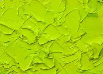green oil paint