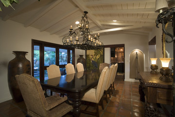 Luxury interior design, dinning room
