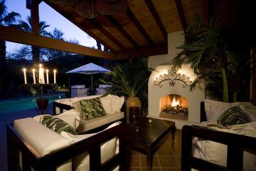 Luxury interior design, lounge