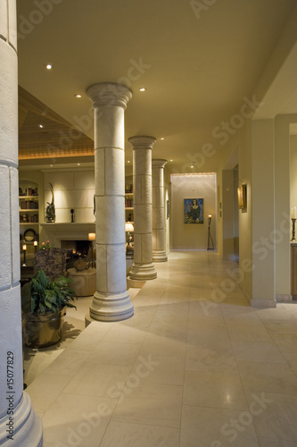 Luxury interior design, hallway