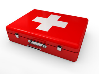 Erste Hilfe Koffer Rot
