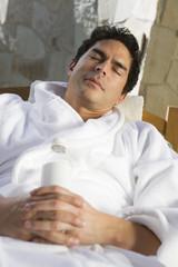 Man sleeping outdoors