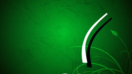 Green animated motion background