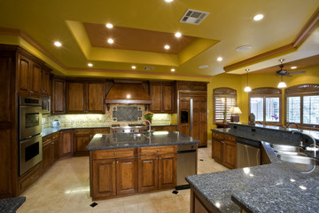 Illuminated kitchen in residence