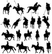 horseback-riding silhouettes collection