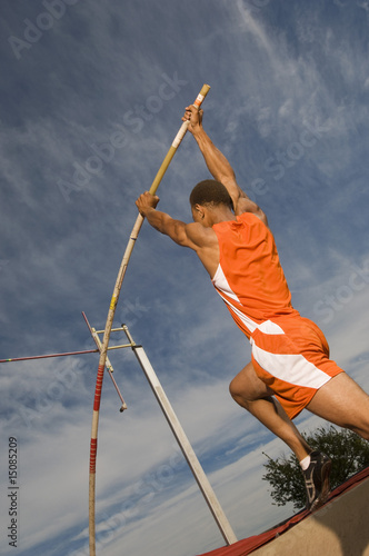 pole vaulted taking off