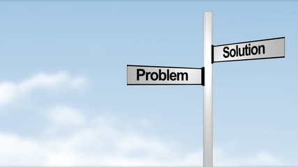 Problem Solution sign post