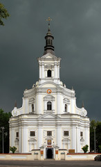 Historic St. Anna's church in Koden, Poland