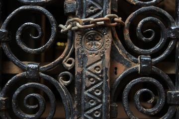 Reja del Palau Episcopal en el bario gotico de Barcelona