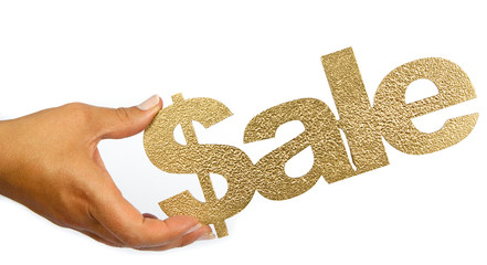 gold sale hand