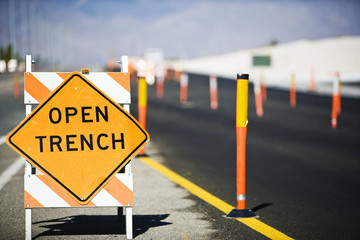 Open trench sign