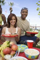 Young Couple at Barbecue, Portrait