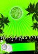 Leinwandbild Motiv grüner Flyer / green Flyer