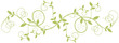 floral design pattern, green nature border background