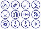 Gadget icons set. poster