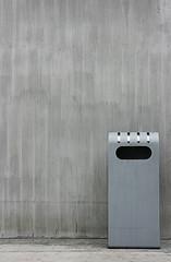 Stahl Beton Wand Abfalleimer