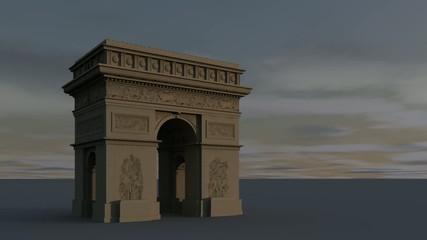 Arc de Triomphe ein Tag in 33 sek.