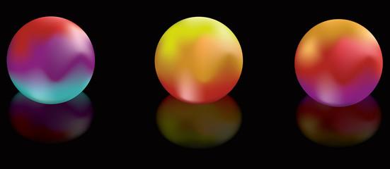 Gradient Mesh Glowing globes