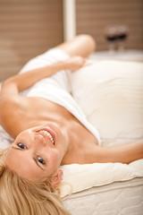 Hot woman in bedroom