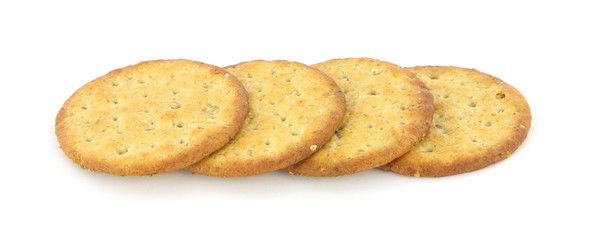 Four multi grain snack crackers