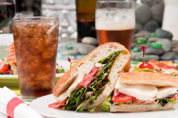 Sandwich and refreshments