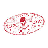 Toxic grunge rubber stamp poster
