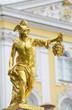 Leinwanddruck Bild - Statue of Perseus with the head of the gorgon Medusa, Petergof,
