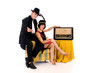 Retro couple radio