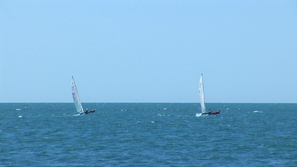 Two sailing vessel in a Black sea