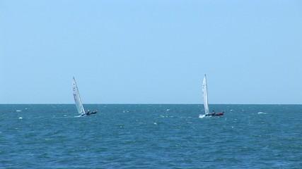 Two sailing vessel in a Black sea
