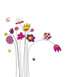 Fototapety abstract flowers