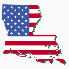 Louisiana map flag