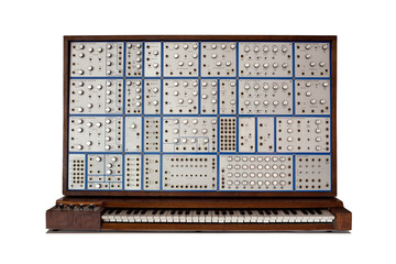 Vintage modular synthesizer - lots of knobs and switches!