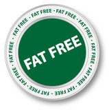 Fat Free Nutrition Label poster