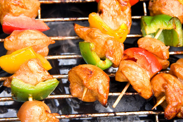 BBQ meat with paprika