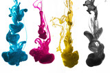 cmyk ink underwater isolated