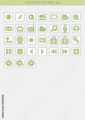 Vector Icons for Web Applications and for computer - PART 3