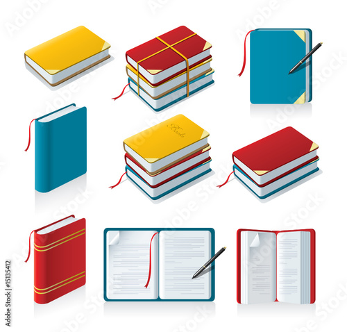Vector: book icons