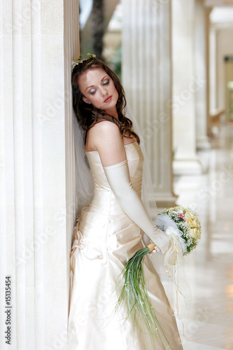 Pretty young adult bride
