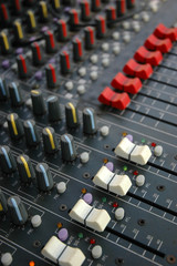 Detail Of Sound Mixer