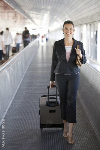 Airport Woman with cellphone