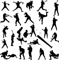 baseball collection - vector