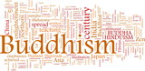 Buddhism word cloud poster
