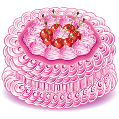 sweet pink cake