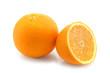 Orange fruits on the  white background.
