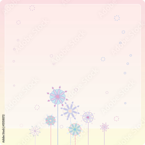 background with flower patterns