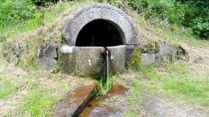 Brunnen mit Trinkwasser im Schwarzwald