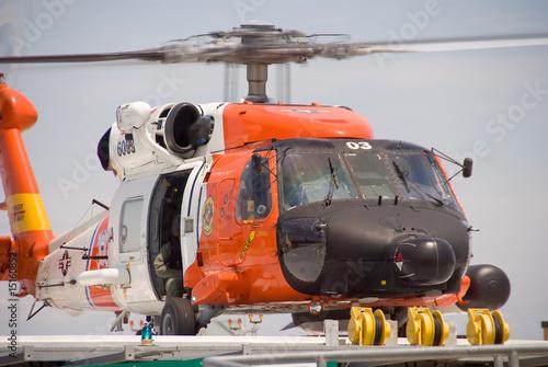 Leinwandbild Motiv Coast Guard Jayhawk Rescue Helicopter