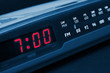 Alarm radio clock. Time to wake up