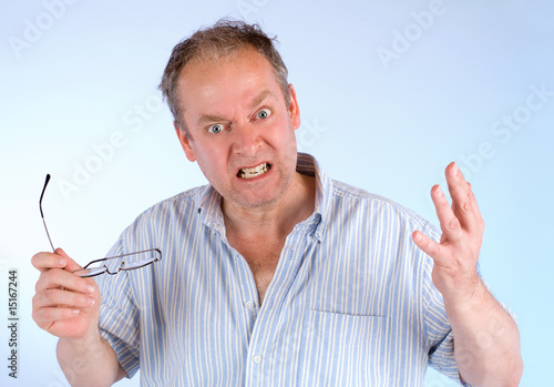 Man Angry about Something